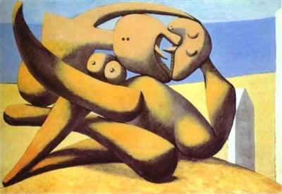 Pablo Picasso    Figures sur la plage