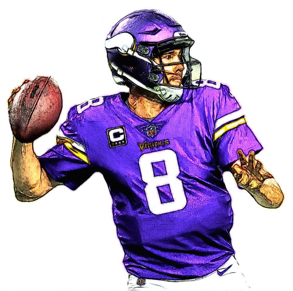 new product 46017 1d7bc Kirk Cousins - Vikings QB | NFL Football Sketches | Football ...