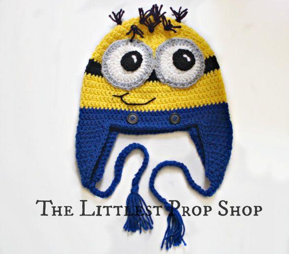 Häkeln Baby Hut-häkeln Minion Hut-Minion Foto Prop-Diener Childrens ...