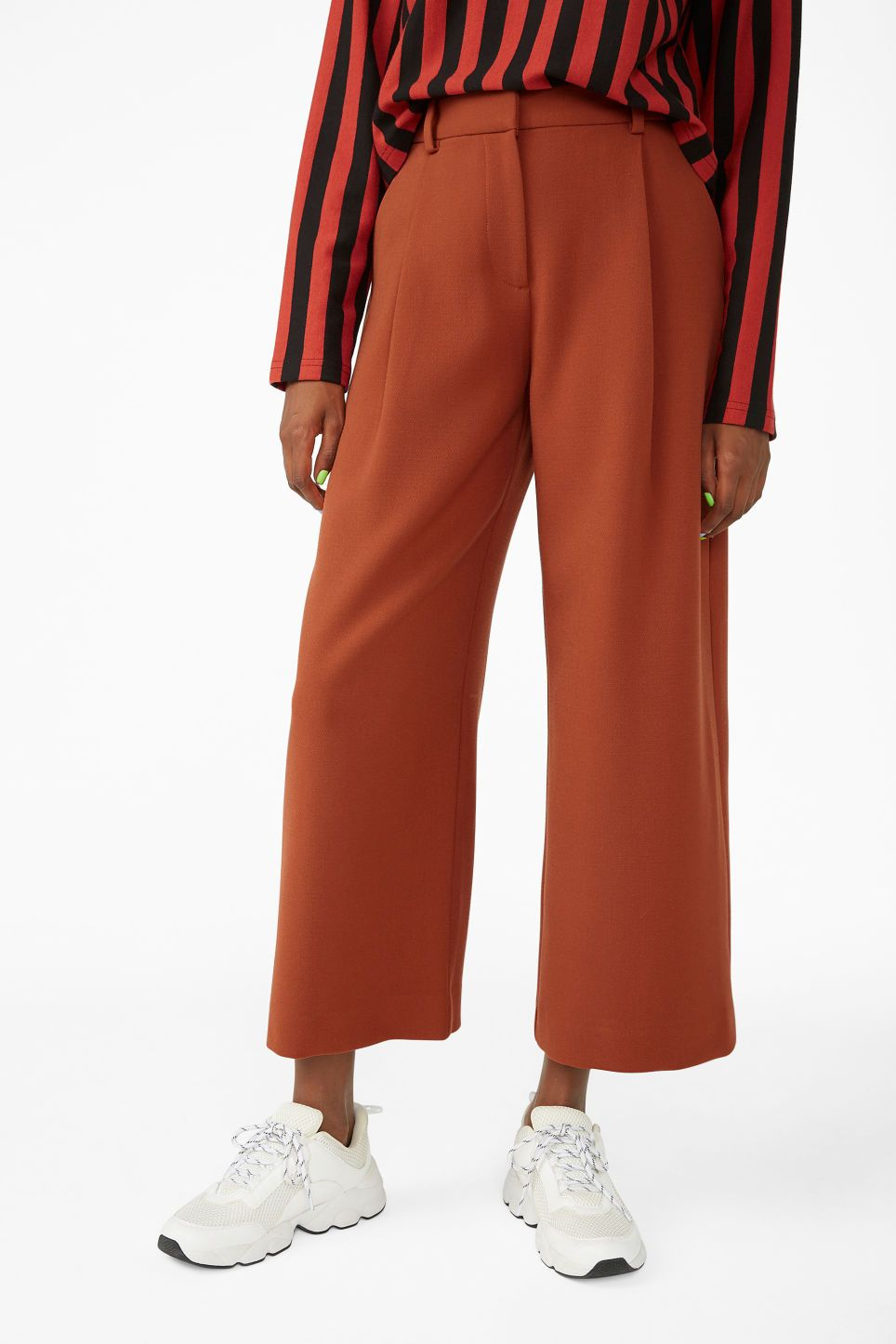 60adef7e8b54d9 Wide leg trousers - Rusty red - Trousers   shorts in 2019