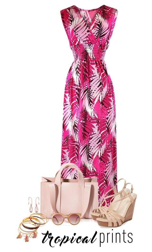 """Senza titolo #5063"" by waikiki24 on Polyvore featuring moda, Corto Moltedo, Seychelles, tropicalprints e hottropics"