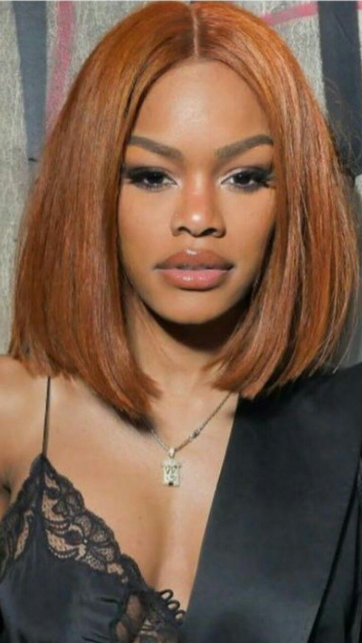 I love this copper bob on Teyana Taylor | Let's Talk Hair ...