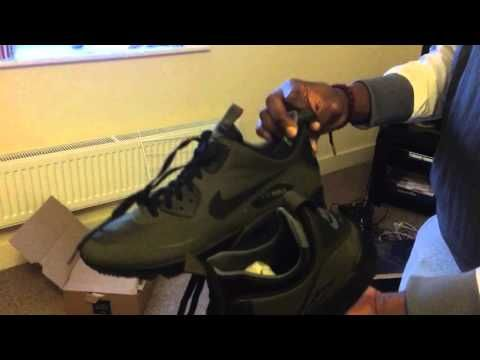 Nike Air Max 90 Mid Winter ( Dark Loden / Green ) - YouTube