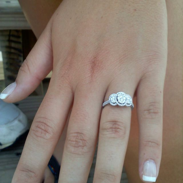My Friends Beautiful Zales Engagement Ring 💍
