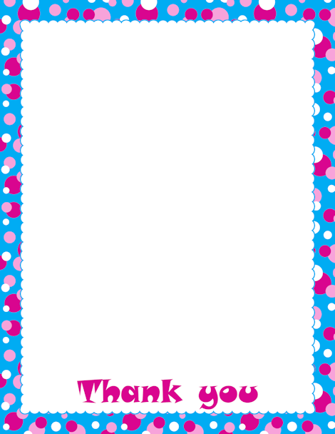 A page border with a polka dot design and the text thank you free a page border with a polka dot design and the text thank you voltagebd Images