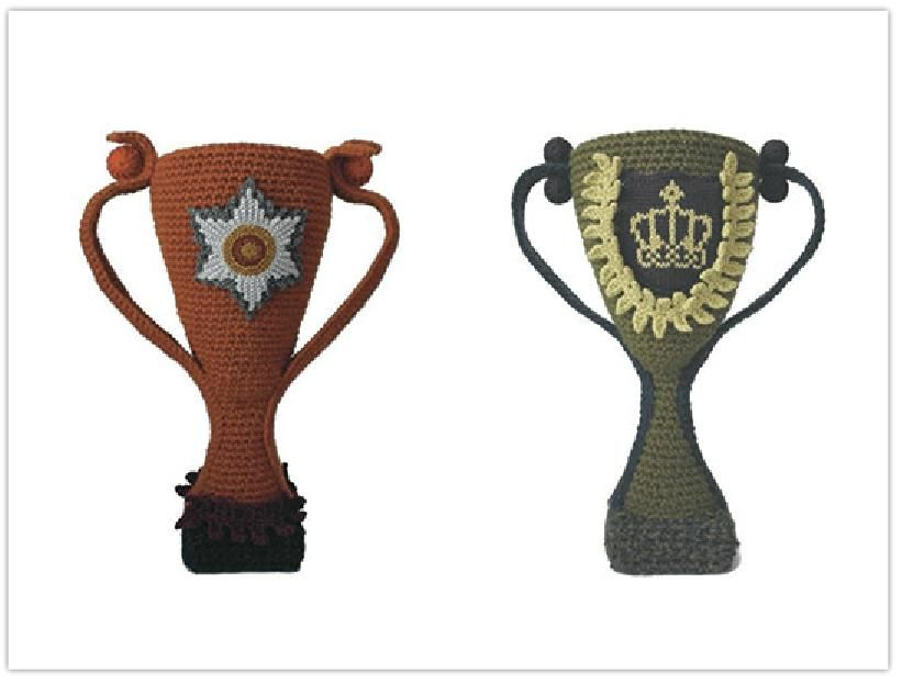 Les trophées - Objects unique pour champions - art knit design - Sophie Dalla Rosa