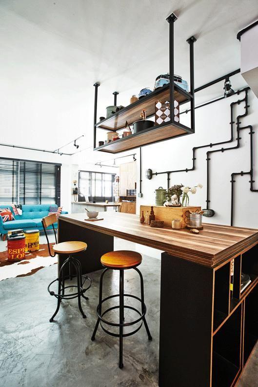 Virtual Kitchen Design Hdb Singapore: House Tour: A Designer's Rustic-industrial HDB Home