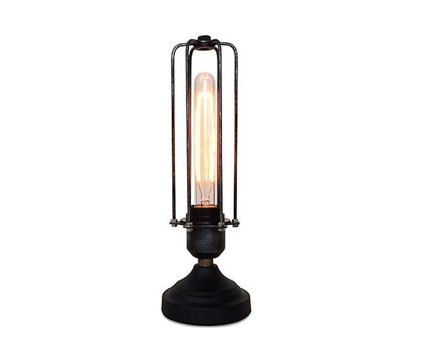 Table lamp vintage style - Vintage Cage Table Lamp Bedside Lamp Dimmable Lamp