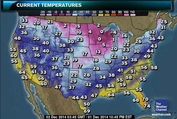 US Current Temperatures | oras | Funny pictures, The weather ...