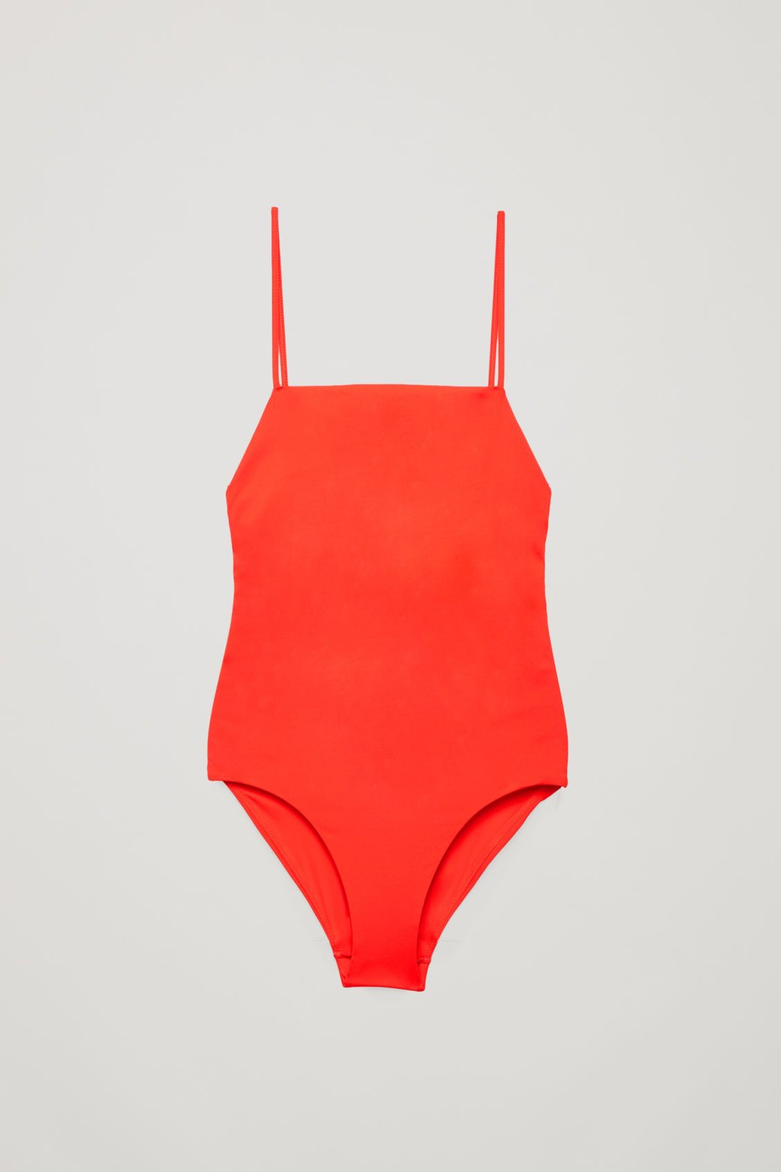 Crossover Square Neck Swimsuit Vibrant Red Swimwear Cos Swimsuits Swimwear Red Swimwear