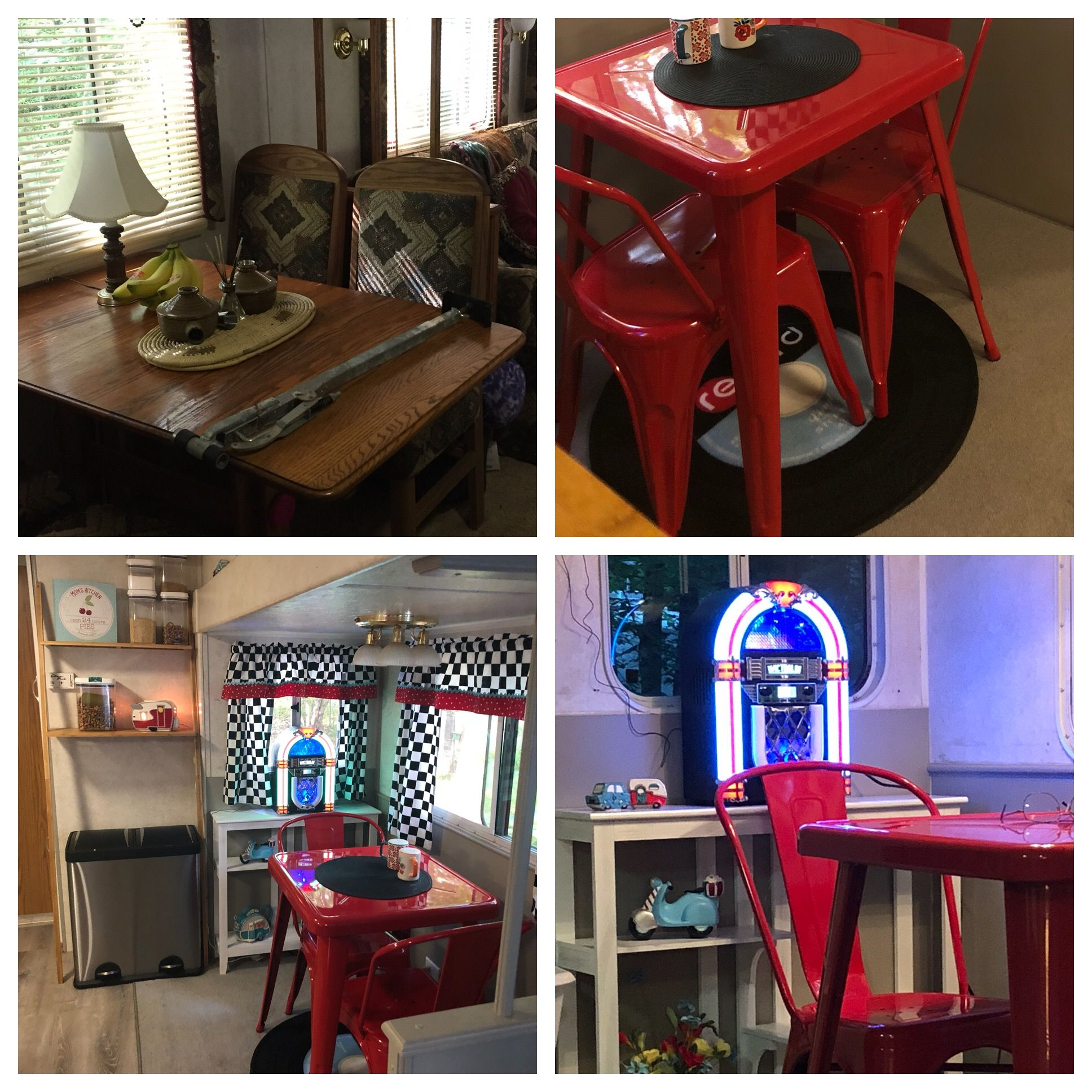 From drab to us diner for the camper dinette complete with