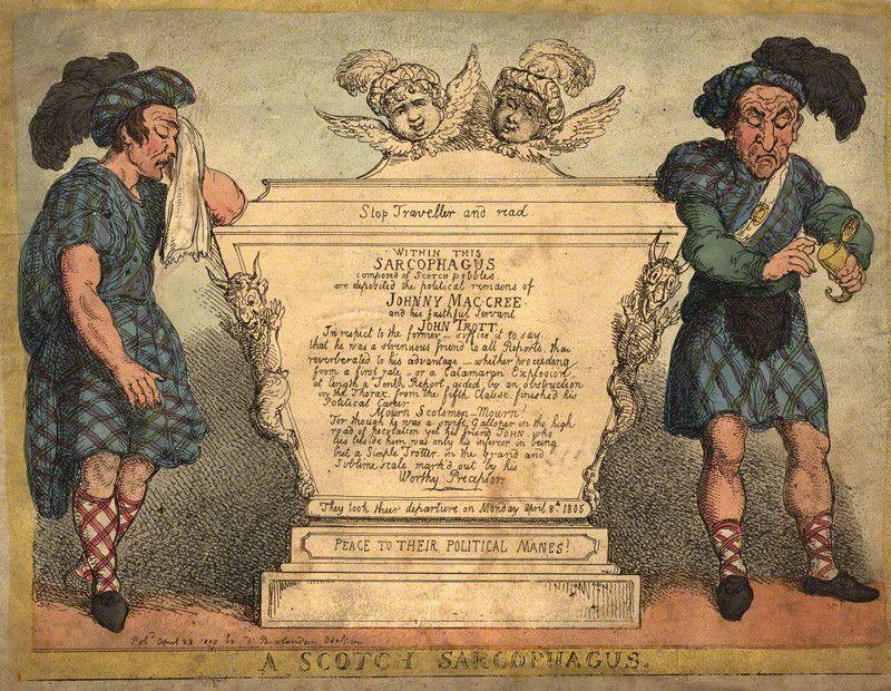 A Scotch Sarcophagus  ca. 1805