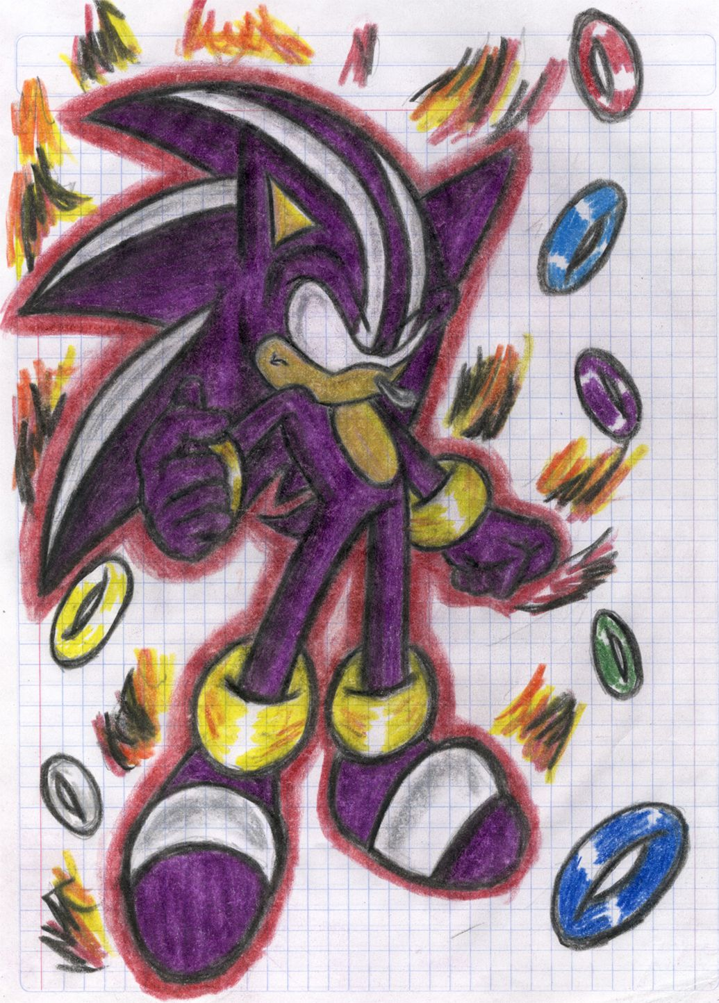 Purple Sonic Ring Darkspin Sonic By Blazeshadow On Deviantart Sonic Artwork Really Cool Stuff