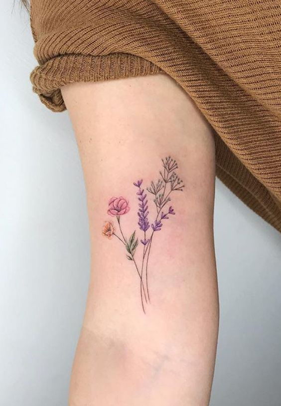 62 Different Women S Wonderful Arm Tattoo Designs Page 34 Of 62 In 2020 Small Tattoos Simple Arm Tattoos Lavender Tattoo