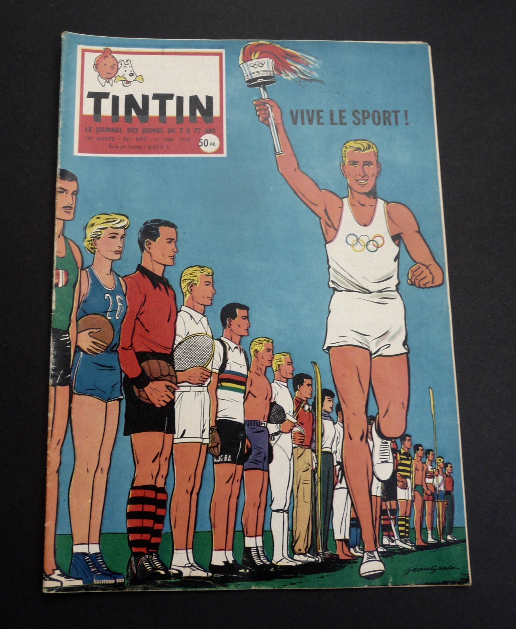 Journal Tintin 1 Mai 1958 10e Annee N 497 Edition Etsy Tintin Comic Books Comic Book Cover