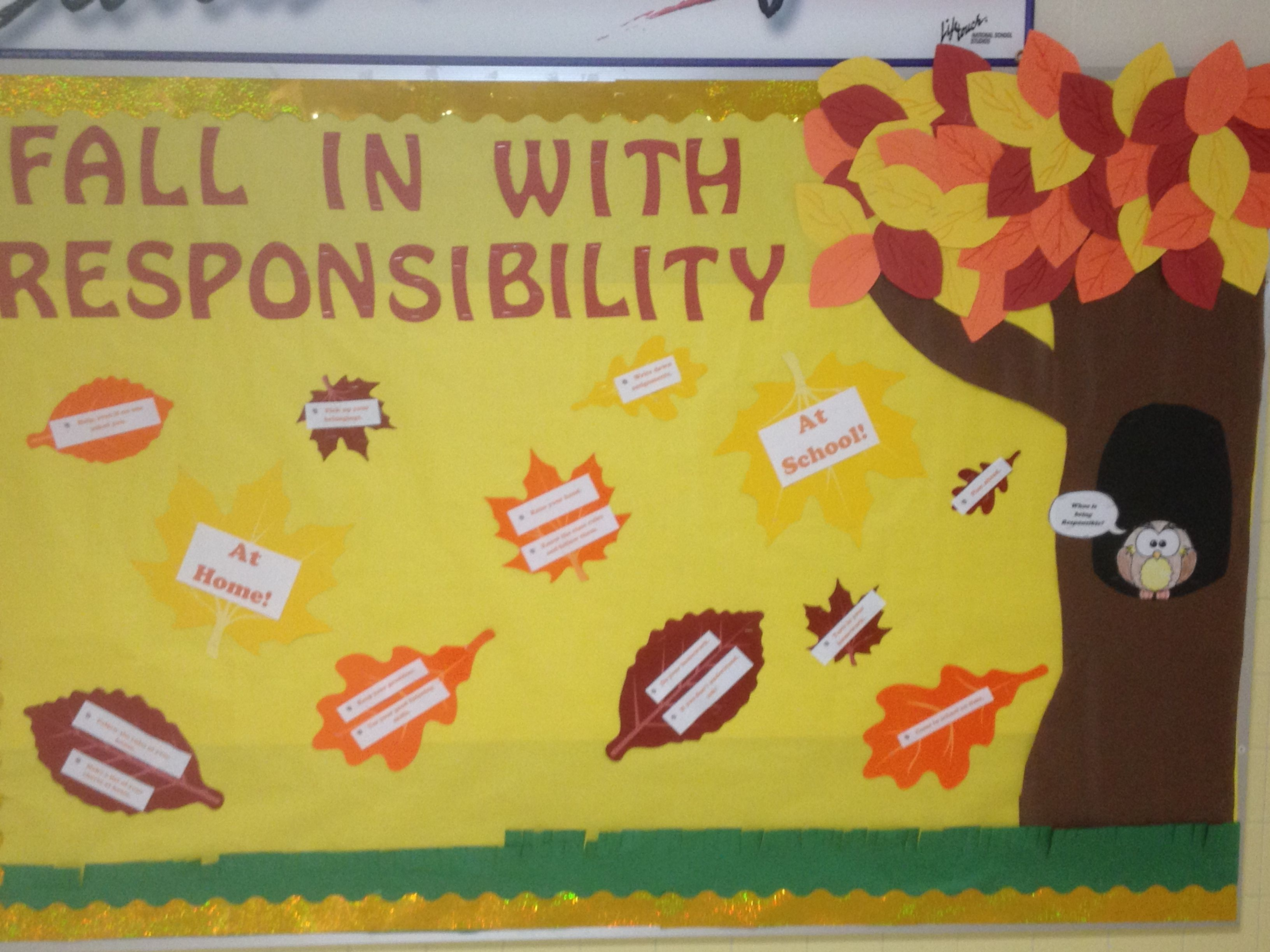 The October Trait Is Responsibility The Board Shares Ways