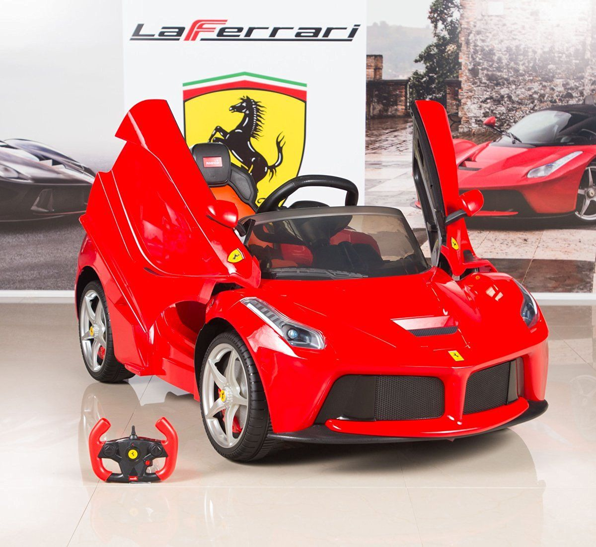 Toys cars for kids  BigToysDirect V Ferrari LaFerrari Kids Electric Ride On Car with