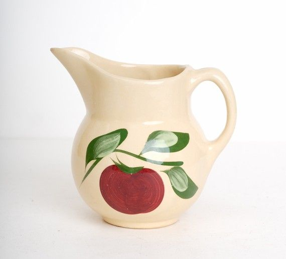 Vintage 50s WATT Pottery Apple Milk Pitcher (I have about 6 pieces)