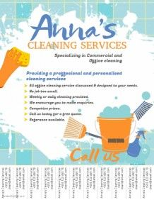 Cleaning Service Flyer Template  Housecleaning