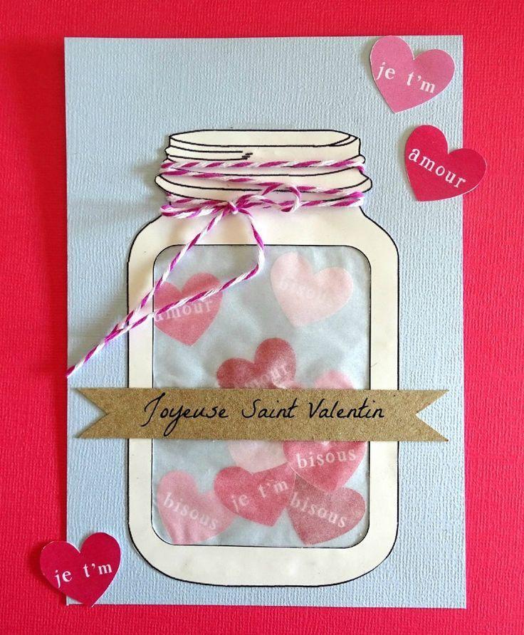 diy carte bocal amour saint valentin astuces de st valentin pinterest valentines. Black Bedroom Furniture Sets. Home Design Ideas