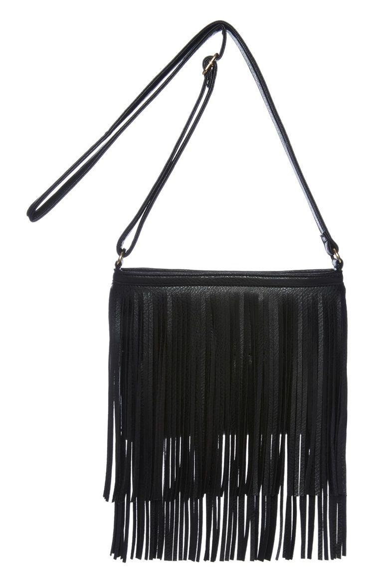 Verrassend Primark - Black Fringe X Body Bag | Bags !! Purses !! Wallets CA-32