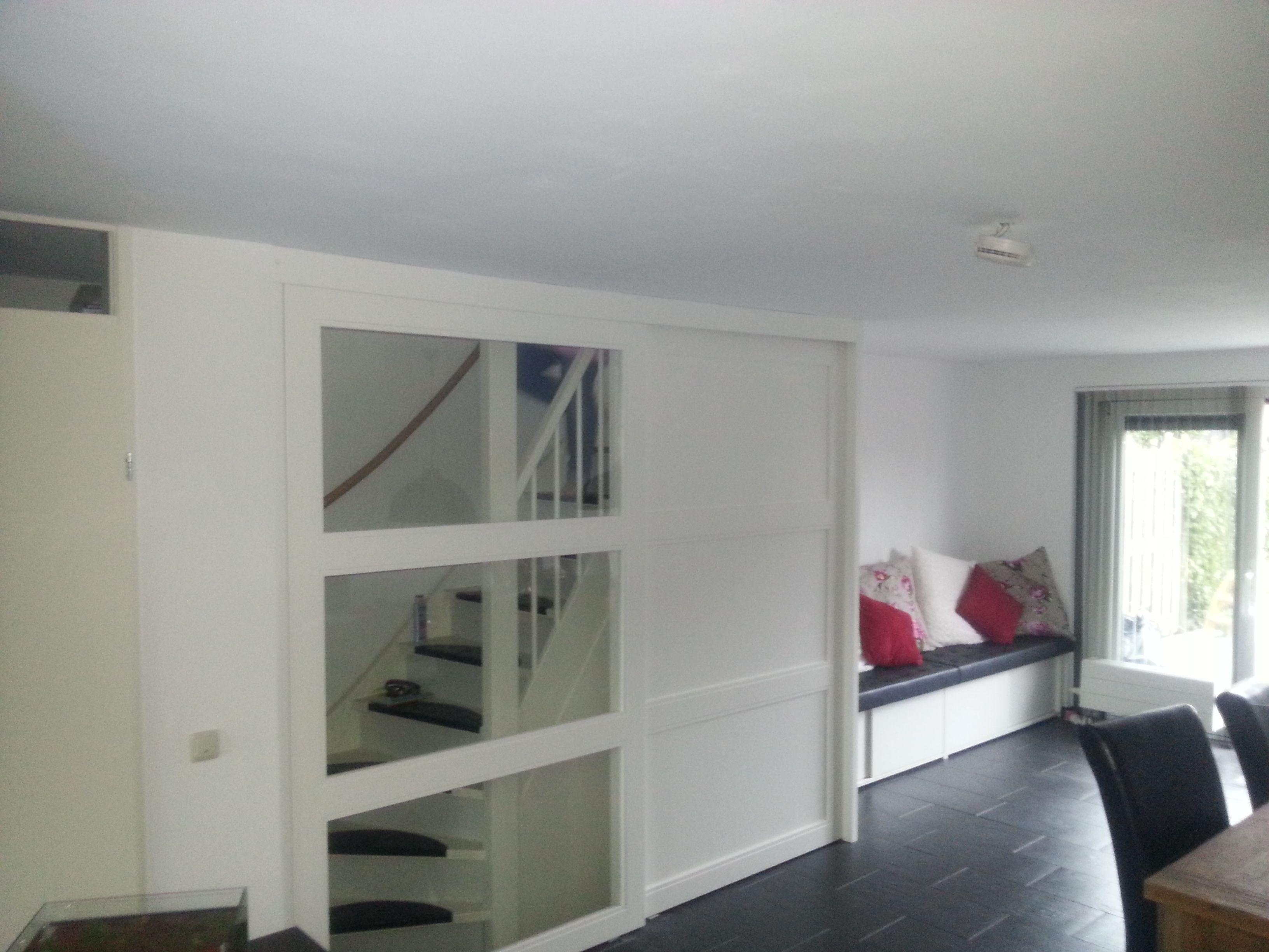 Schuifdeuren voor trap schuifdeur pinterest schuifdeuren woonkamer keuken en zolderkamer - Schuifdeur keuken woonkamer ...