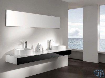 salle de bain design meuble noir laqu 2 vasques bora - Meuble Salle De Bain Noir Laque