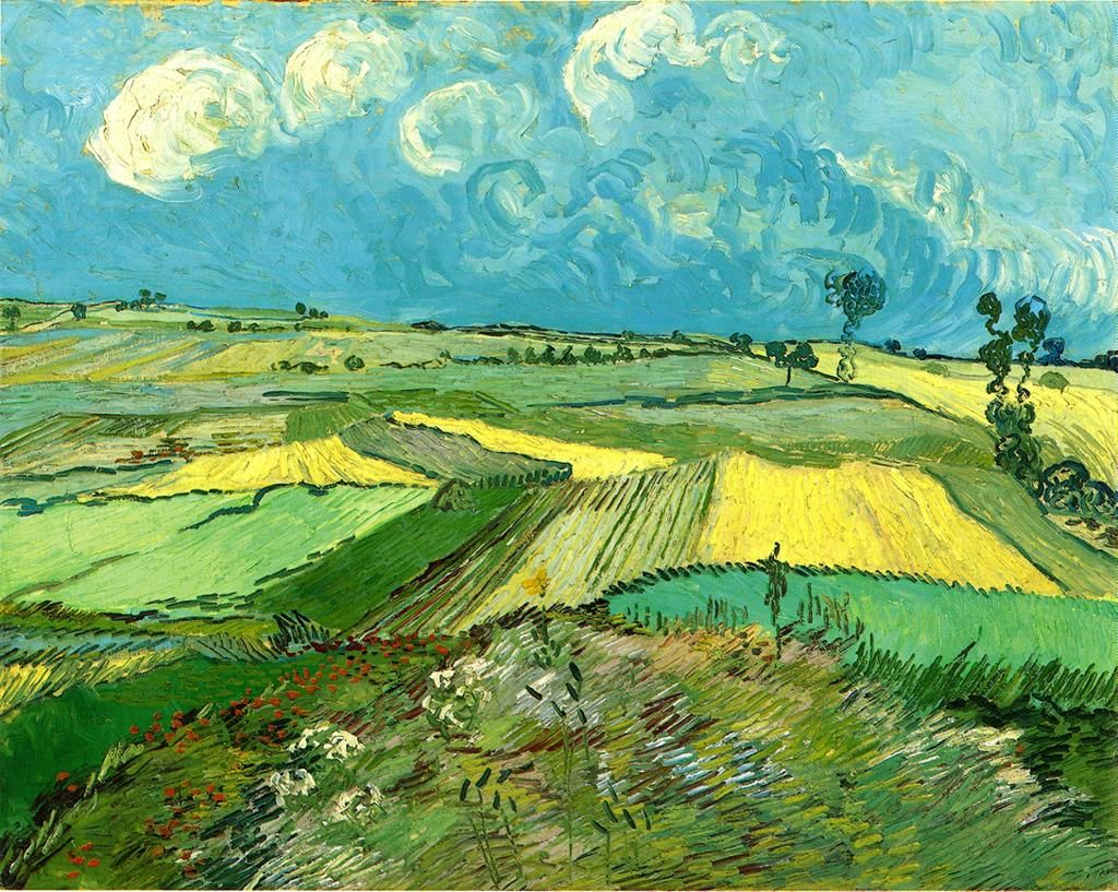 the-hardest-of-hearts-survive:  Vincent van Gogh The Plain of Auvers 1890 Oil on canvas Carnegie Museum of Art, Pittsburgh, Pennsylvania, United States