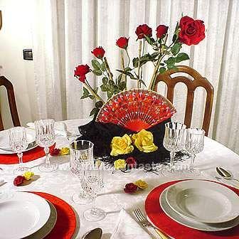 Spanish Themed Dinner Party Decoraciones De Mesa Arte Espana