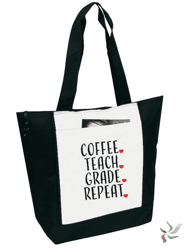 a8aeb230cb3a6 Coffee. Teach. Grade. Repeat. Graphic Tote in 2019
