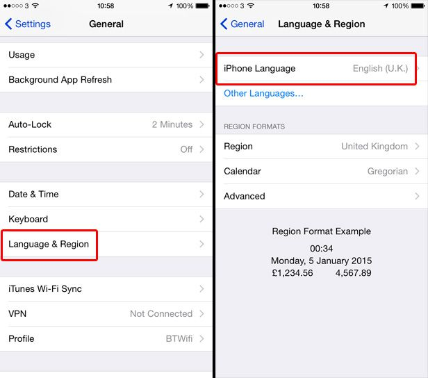 How To Change The Language On Iphone