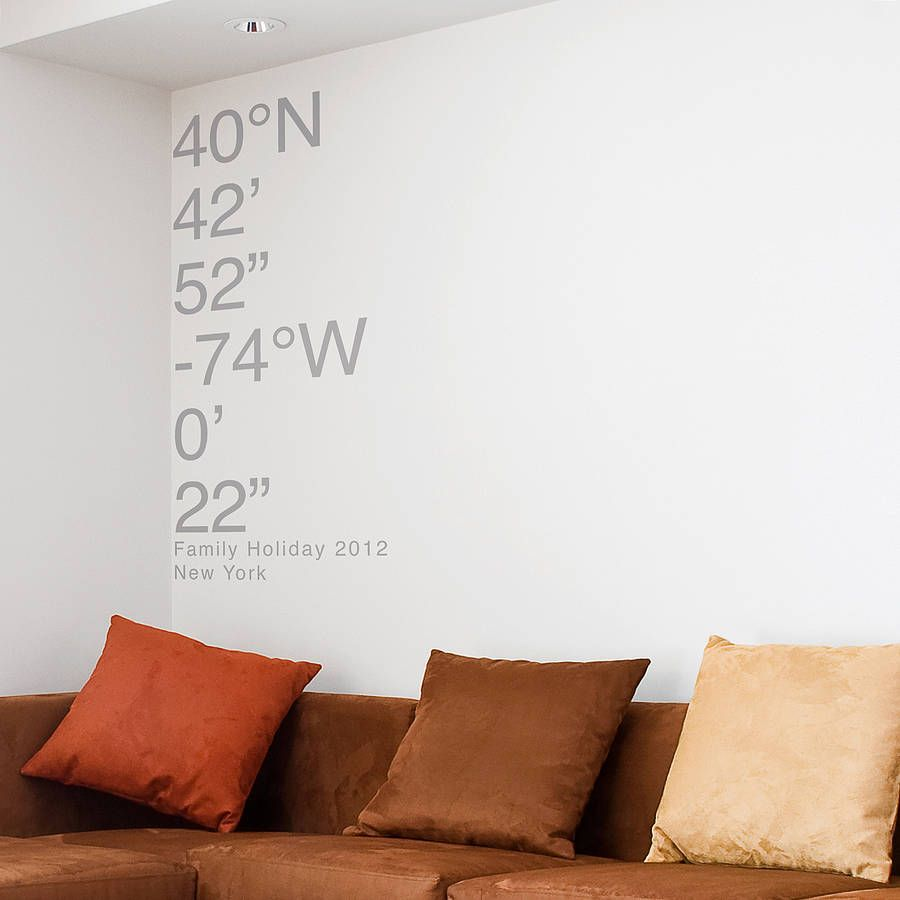 Personalised coordinates wall sticker wall sticker vinyl wall personalised coordinates wall sticker amipublicfo Images