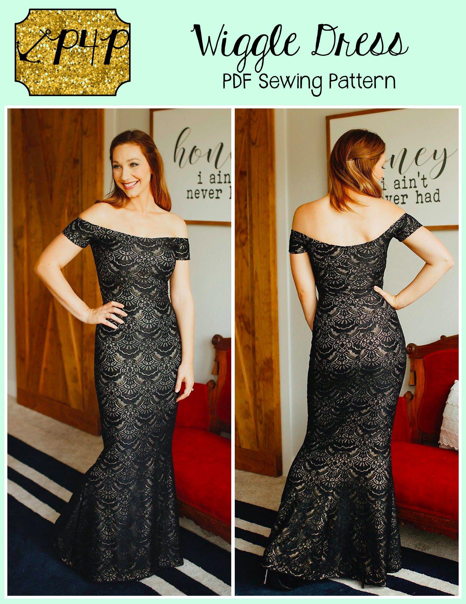 Wiggle Dress Patterns For Pirates Wiggle Dress Pattern Short Dress Patterns Pencil Dress Pattern