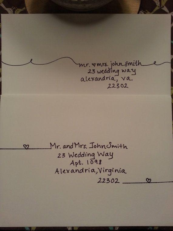 Perfekt Briefumschlag, Einladung, Hochzeitseinladung, Herzchen, Süß
