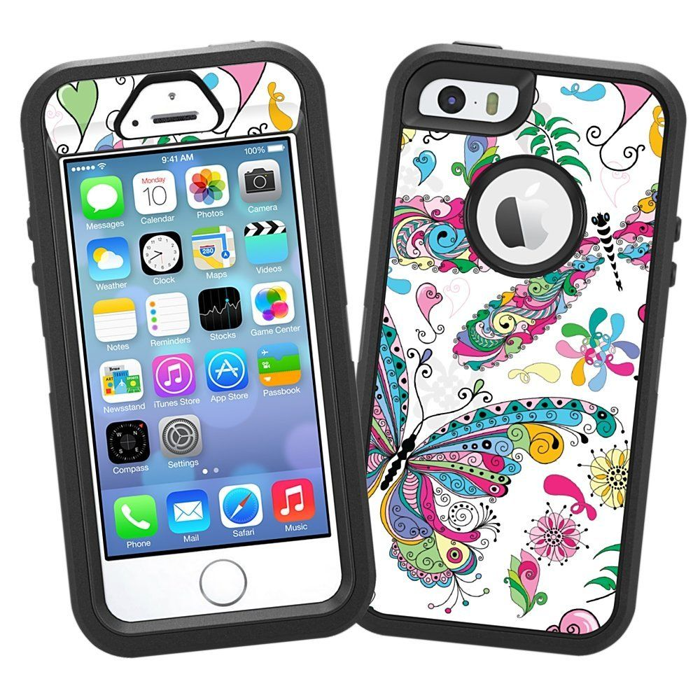 "Decorative Otter Boxes Amazon Butterflies And Dragonflies ""protective Decal Skin"