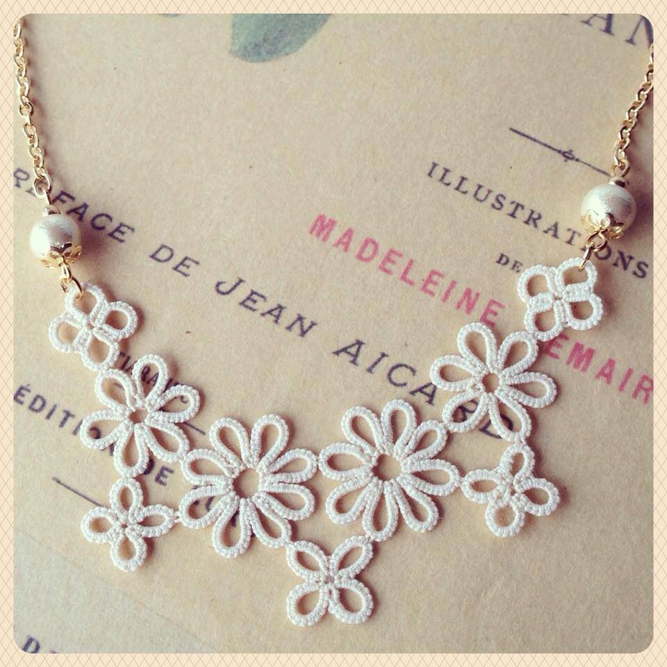 tatting tiki moku moku | Tatting | Pinterest | Collares, Zapatos ...