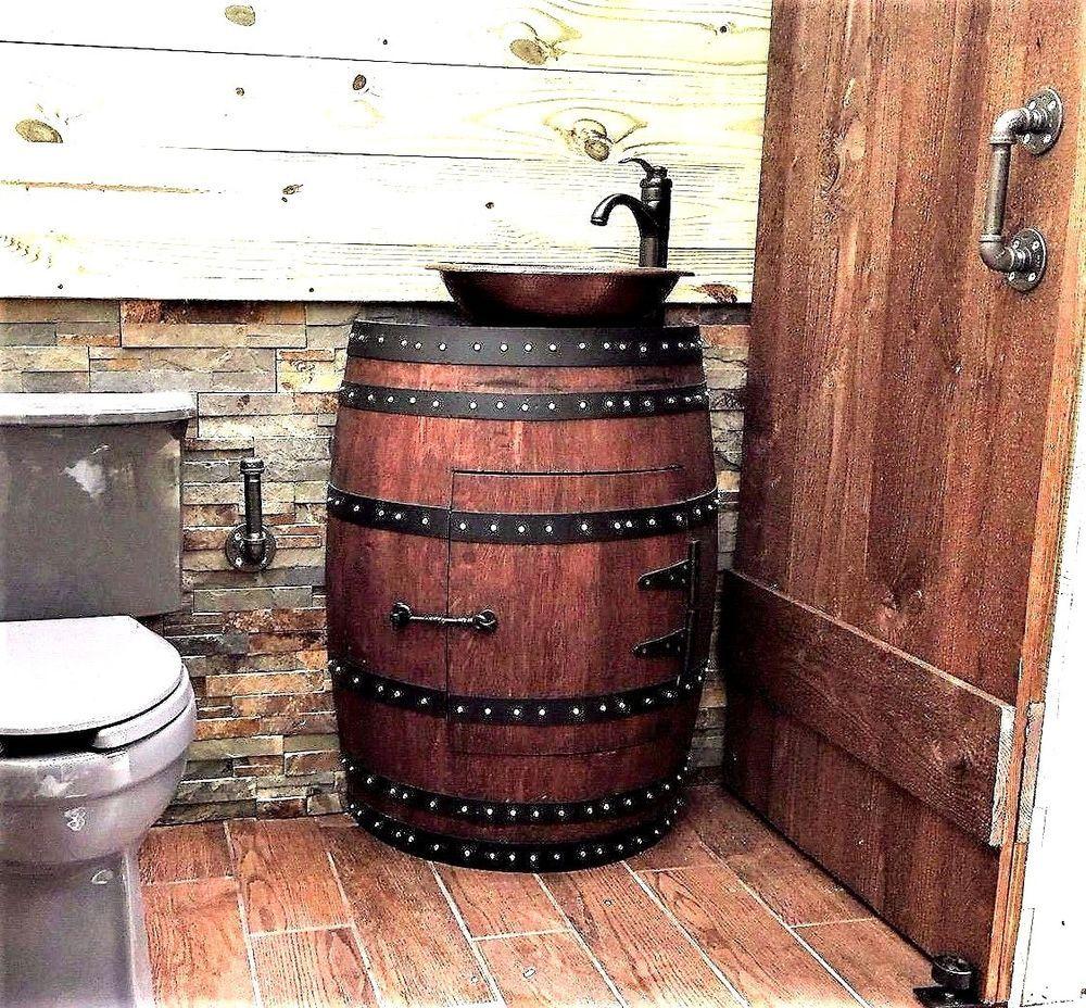 barrel sink bathroom whiskey barrel sinks contemporary sink hammered copper  rustic antique bathroom pertaining to 9 . barrel sink bathroom ...