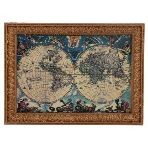 Old world map framed print world old world and old world maps old world map framed print sciox Gallery