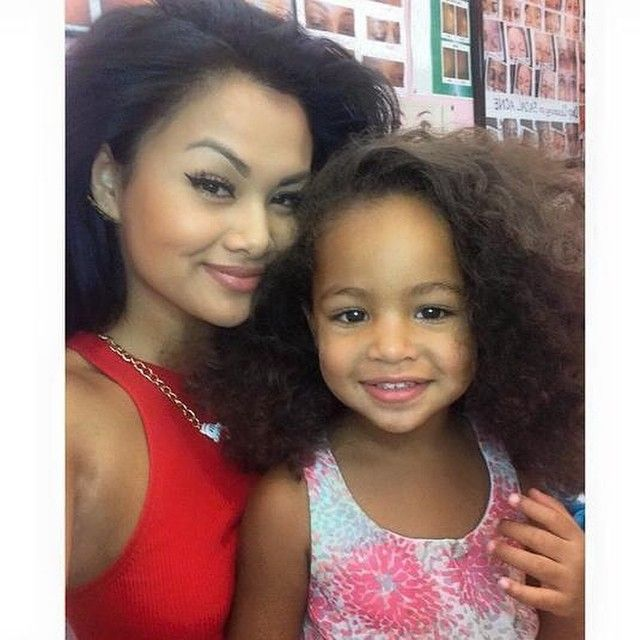 Happy Family Black Love Mother Daughter  Baby Family -4243