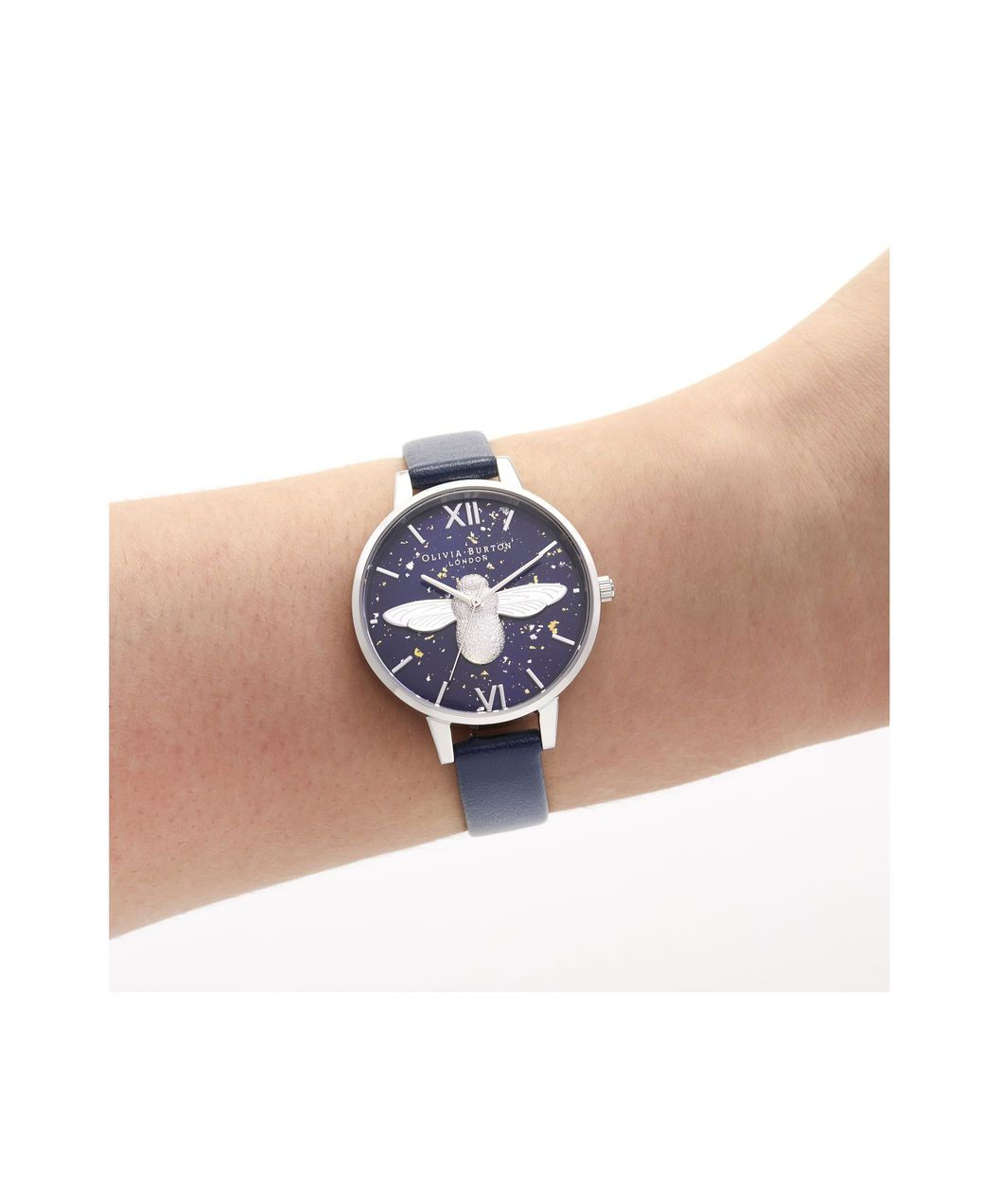 819078084 OLIVIA BURTON LONDON 3D Bee, Midnight, Navy & SilverOB16GD04 – Demi Dial in  Navy and Silver - Other view