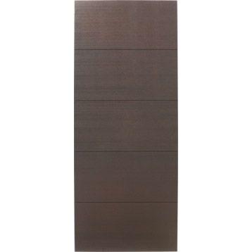 Porte coulissante frêne plaqué marron Tokyo ARTENS, 204 x 73 cm