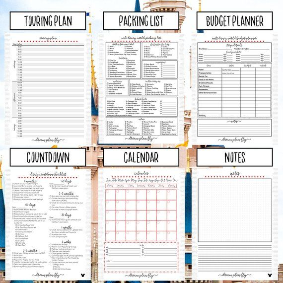 Ultimate Walt Disney World Planner Create Your Own Editable Etsy Travel Itinerary Template Itinerary Template Vacation Planner