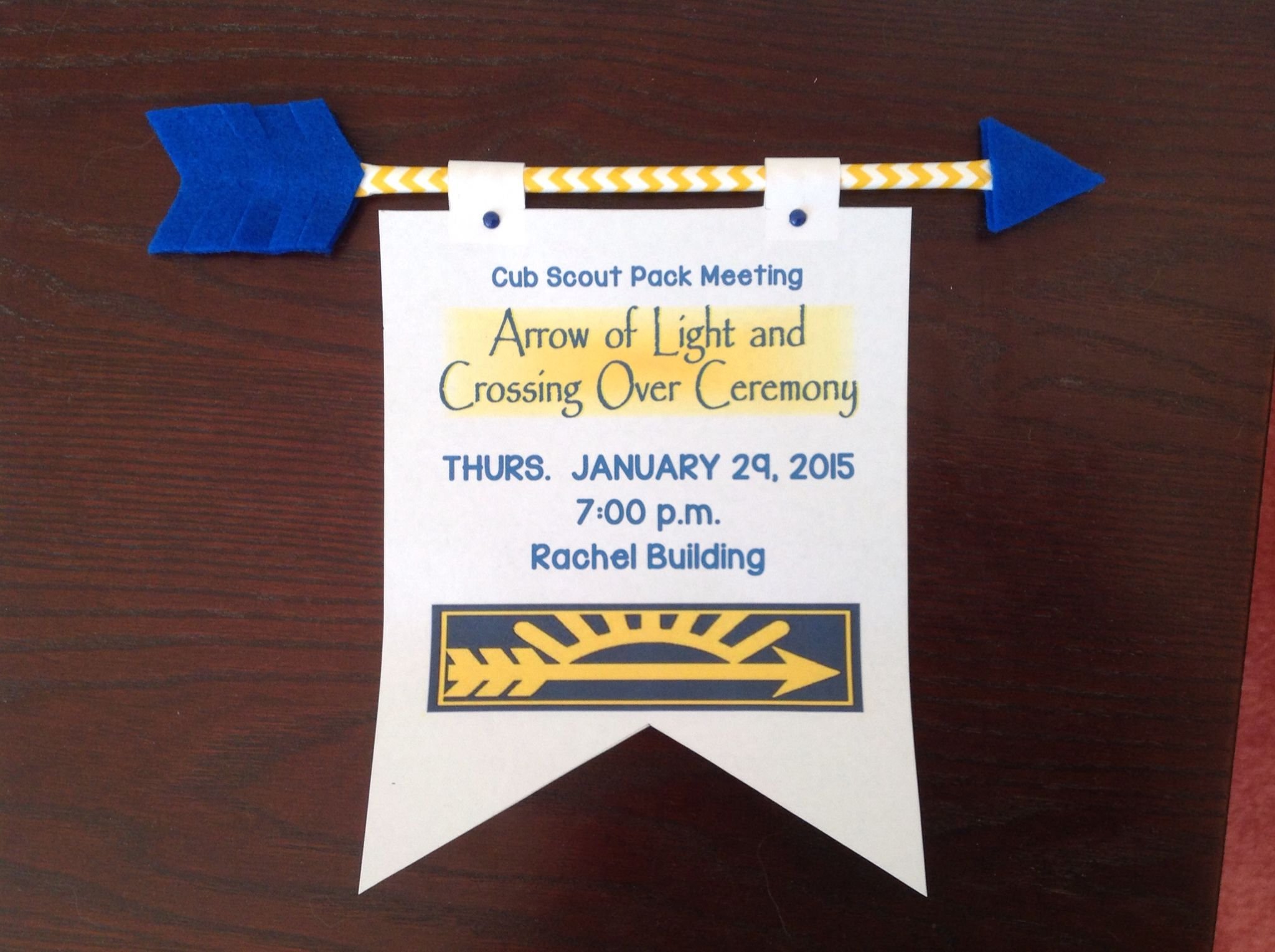 Invitation For An Arrow Of Light Pack Meeting Cub Scout Cub S