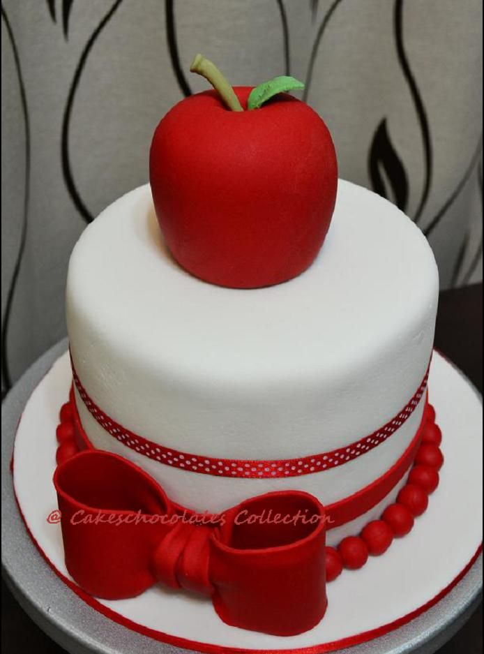 Gallery For Apple Shaped Birthday Cake 1st Birthday Cupcakes Cake Apple Birthday