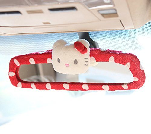 Hello Kitty Car Rear View Mirror Cover (Red) - http://www.caraccessoriesonlinemarket.com/hello-kitty-car-rear-view-mirror-cover-red/  #Cover, #Hello, #Kitty, #Mirror, #Rear, #View #Hello-Kitty