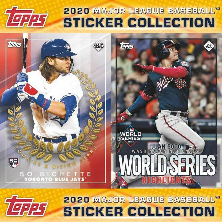 2020 Topps MLB Sticker Baseball Checklist, Set Info, Boxes