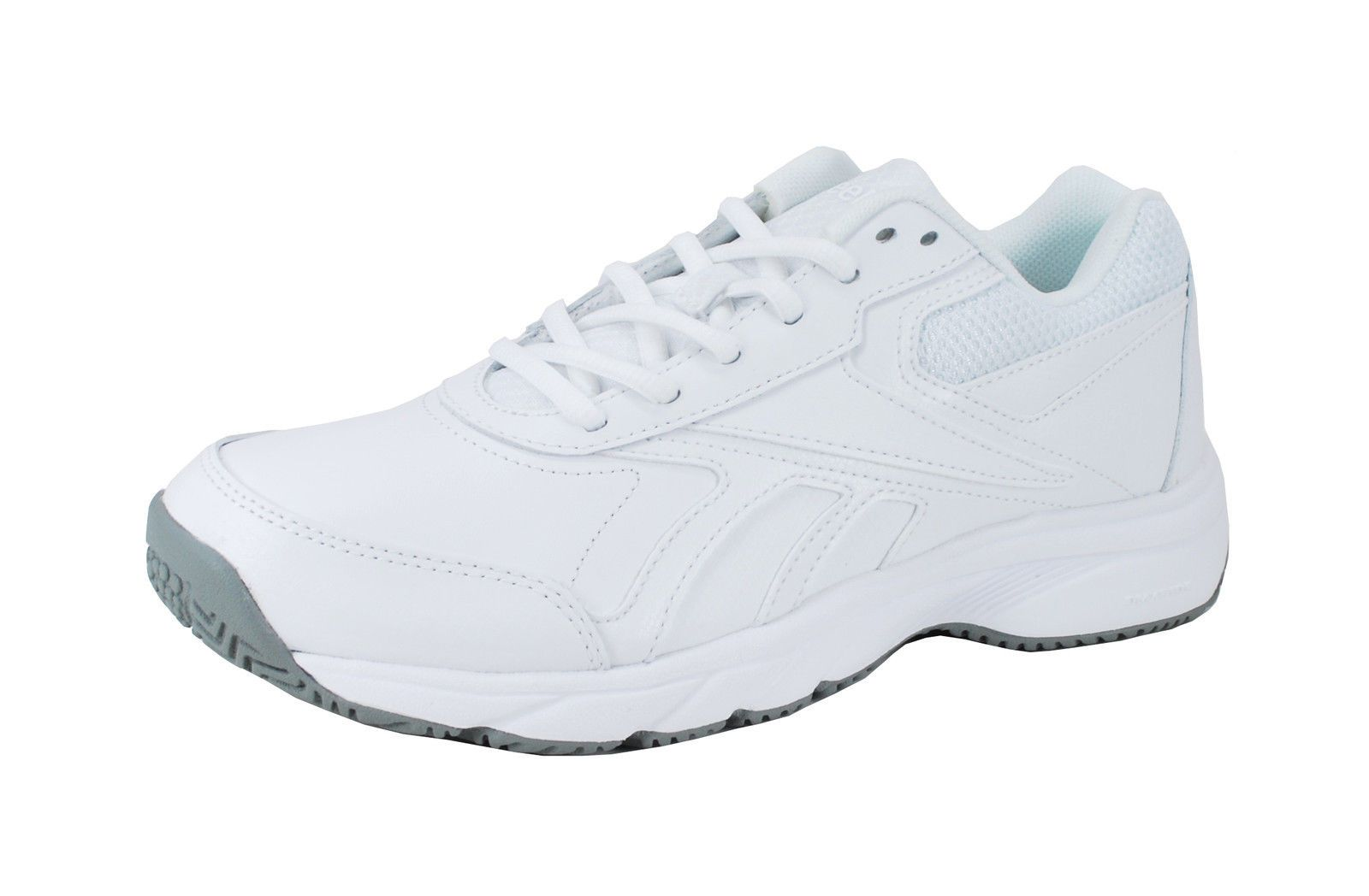 240a9aa1a1e Reebok Women Duty Proof Oil Slip Resistant Memory Foam Shoes White Gray