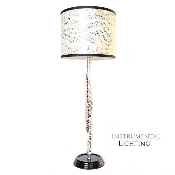 Flute Lamp U0026 Sheet Music Lamp Shade