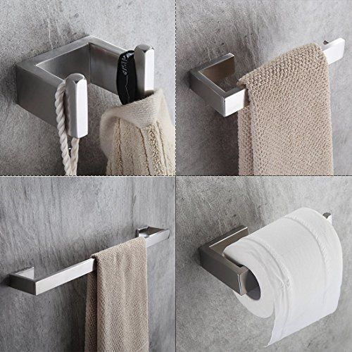 Fapully 100511s Four Piece Bathroom Accessories Set Stainless Steel Wall Mo Bathroom Accessories Sets Bathroom Accessories Stainless Steel Bathroom Accessories