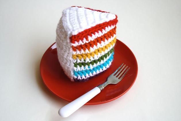 How-To: Crochet Rainbow Cake | Rainbow | Pinterest | Basteln